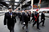 Members of the National Service veterans association. Remembrance service London. - Duncan Phillips - 10-11-2004