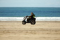 Elderly gent in motorised wheelchair, Whitesands , Pembrokeshire, Wales - Duncan Phillips - 11-04-2009