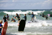 Bodyboarding, Sennen Cove Beach, Cornwall, uk. - Duncan Phillips - 18-08-2010