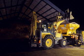 Loading Gritting lorry at council depot, Harrow, London - Duncan Phillips - 10-02-2007
