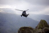 Royal Navy RAF Search and Rescue Force (SARF) HAR.3 Helicopter training exercise in Snowdonia, North Wales. - Duncan Phillips - 02-08-2011