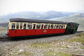 Snowdon Mountain Railway, a narrow gauge rack and pinion mountain railway steam locomotive, It is a tourist railway that travels for 4.7 miles (7.6 �km) from Llanberis to the summit of Snowdon Snowdon... - Duncan Phillips - 03-08-2011
