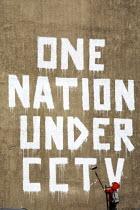 One Nation Under CCTV, by graffiti artist Banksy, London. - Duncan Phillips - 08-05-2008