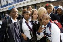 Comprehensive school pupils, London - Duncan Phillips - ,2000s,2006,adolescence,adolescent,adolescents,BME Black minority ethnic,child,CHILDHOOD,children,cities,city,class,classroom,CLASSROOMS,comprehensive,COMPREHENSIVES,edu education,education,female,fem