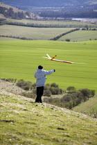 Launching a model airplane, Buckinghamshire - Duncan Phillips - 12-04-2008