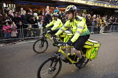 St John Ambulance Cycle response unit. Chinese new year celebrations , London. - Duncan Phillips - 10-02-2008