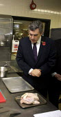 Gordon Brown visiting sixth form pupils, Westminster Kingsway College, London - Duncan Phillips - 2000s,2007,adolescence,adolescent,adolescents,caterer,caterers,catering,chicken,CHICKENS,child,CHILDHOOD,children,college,COLLEGES,edu,educate,educating,education,educational,FE,food,food preparation,