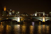 Night time scene of the river thames looking towards the City of London - Duncan Phillips - 06-12-2006