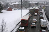 Congestion on the A406 North Circular Road, London in the Snow. - Duncan Phillips - 13-01-2010