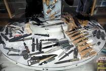 Knives for sale, Paris, France - Duncan Phillips - 29-06-2010
