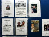 Missing posters. Kings Cross station for the victims of terrorist attack,london. - Duncan Phillips - 14-07-2005