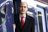 Lord Andrew Adonis, New Javelin Train launch, St Pancras Station, London - Duncan Phillips - 2000s,2008,395,Adonis,Andrew,Bullet,cities,city,Class,EBF Economy,Hitachi,HS1,Javelin,kent,Labour Party,launch,London,Lord,LORDS,network,new,Olympics,Pancras,pol politics,RAIL,railway,RAILWAYS,southea