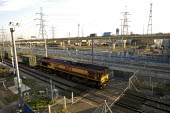 Freight Train and M25, Dagenham, UK - Duncan Phillips - 01-02-2007