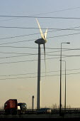 Wind turbine next to the M25, Thames gateway, UK - Duncan Phillips - 01-02-2007