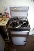 Kitchen of someone living on benefits in private rented accommodation who suffers with a diagnosed mental illness. - Duncan Phillips - 10-03-2007