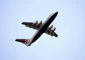 BA Jet taking off from city airport - Duncan Phillips - 2000s,2008,aeroplane,AEROPLANES,air,air transport,aircraft,airline,airport,AIRPORTS,airways,aviation,British airways,cities,city,EBF economy,flight,FLIGHTS,fly,flying,jet,jets,journey,journeys,passeng