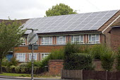 Solar Panels on the roof of flats, Woking, Surrey - Duncan Phillips - 01-09-2008
