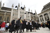University Graduation at Guildhall, in London. - Duncan Phillips - mortarboard,2010,2010s,academic,ACADEMICS,achievement,achievements,alumni,ceremonial,ceremonies,ceremony,cities,city,degree,degrees,edu,educate,educating,education,educational,FEMALE,foreign,foreigner