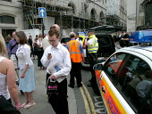 Police attend Bank station which was evacuated in the rush hour due to a security alert. - Duncan Phillips - 15-07-2005