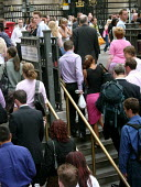 Bank station which was evacuated in the rush hour due to a security alert. - Duncan Phillips - 15-07-2005