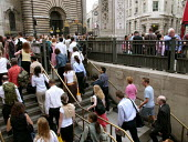 Bank station which was evacuated in the rush hour due to a security alert. - Duncan Phillips - 07-07-2005