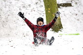 Severe cold weather. Children sledging Alexandra Palace, London - Duncan Phillips - 19-12-2010
