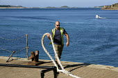 Worker casting off, St Marys, Isles of Scilly - Duncan Phillips - 30-08-2010