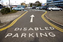 Disabled parking sign, railway station, London - Duncan Phillips - 08-04-2008
