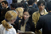 Students at a University Careers Fair. - Duncan Phillips - 05-11-2003