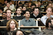 Students in a university lecture. - Duncan Phillips - ,2000s,2005,BAME,BAMEs,Black,BME,bmes,communicating,communication,diversity,edu,educate,educating,education,educational,ethnic,ethnicity,FEMALE,foreign,foreigner,foreigners,Higher Education,internatio
