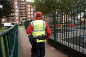 Street Wardens patrolling a housing estate Camden London - Duncan Phillips - 21-09-2007