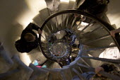 Spiral Staircase inside the Monument, City of London. - Duncan Phillips - 2000s,2009,ACE,architecture,buildings,cities,city,london,monument,Monuments,spiral,stair,staircase,STAIRS,urban,wren