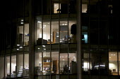 Office workers working late in the City of London - Duncan Phillips - 24-02-2010