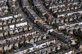 Aerial View of London - Terraced Housing, Putney, West London - Duncan Phillips - 2010s,2013,aerial,building,buildings,cities,city,cityscape,cityscapes,communities,community,EBF,Economic,Economy,home,house,houses,housing,Housing Estate,london,outdoors,outside,people,Putney,scene,sc