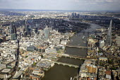Aerial View of London - Aerial View of London - The Shard and the City of London - Duncan Phillips - 2010s,2013,aerial,bridge,bridges,building,buildings,cities,city,cityscape,cityscapes,EBF,Economic,Economy,london,outdoors,outside,River Thames,scene,scenes,Shard,skyline,skylines,street,streets,thames