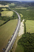 Aerial View of M25 - Duncan Phillips - 2010s,2013,aerial,country,countryside,east,EBF,Economic,Economy,farm,farmed,farming,farmland,farms,field,fields,highway,infrastructure,M25,motorway,MOTORWAYS,outdoors,outside,producer,road,roads,rural