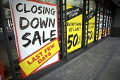 Closing Down Sale, Blacks Leisure, London. They are shutting 89 of its loss-making stores. - Duncan Phillips - 2000s,2009,bought,buy,buyer,buyers,buying,cities,city,closed,closing,closure,closures,commodities,commodity,consumer,consumers,credit,Credit Crunch,crisis,crunch,customer,customers,DOWNTURN,EBF,Econom
