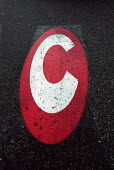 Congestion Charge signs, Central London. - Duncan Phillips - 2000s,2003,adult,adults,AUTO,AUTOMOBILE,AUTOMOBILES,AUTOMOTIVE,car,cars,charging,cities,city,communicating,communication,commute,commuter,commuters,commuting,CONGESTED,congestion,congestiOn Charge,con