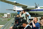 Passenger jets and Plane Spotters Gatwick Airport. - Duncan Phillips - 17-04-2003