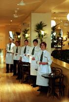 Waiters & waitress's at a London bar & restaurant. - Duncan Phillips - 18-12-2002