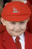 Schoolboy at Stafford for the Queens visit to the town - Duncan Phillips - 2000s,2006,boy,boys,cap,child,CHILDHOOD,children,edu education,education,EMOTION,EMOTIONAL,EMOTIONS,fee,independent,juvenile,juveniles,kid,kids,male,paying,people,private,public,pupil,pupils,school,sc