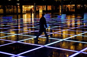 Leaving after working late in the City of London, walking through Broadgate - Finsbury Avenue Square. Lighting designed by Mark Ridler at Maurice Brill Lighting Design. - Duncan Phillips - 30-03-2010