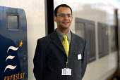 Eurostar Staff, modelling new uniforms, Waterloo Station - Duncan Phillips - 26-02-2004