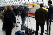 Media waiting to film HRH the Queen departing on eurostar to Paris for the Entente Cordiale Centenary event. London Waterloo - Duncan Phillips - 05-04-2004