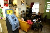 Cash Machine at Intergrated Post Office, waiting room & Cafe at Downham Market Station, East Anglia. - Duncan Phillips - 21-05-2004
