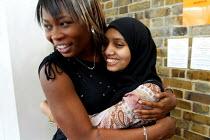 Students celebrating GCSE Results. London - Duncan Phillips - 26-08-2004