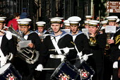 Cadet Band, Lord Mayors Show ,London - Duncan Phillips - 2000s,2004,band,bands,Barbican,Cadet,London,Lord Mayor's Show,melody,music,MUSICAL,musical instrument,musical instruments,musician,musicians,player,players,procession,sailor,sailors,sea cadets,Show,st