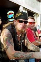 Bikers celebrating 100 yr Anniversary Harley Davidson, travelling to Milwaukee Wisconsin USA. - Duncan Phillips - 22-08-2003