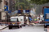 London double decker bus destroyed by suspected suicide bomber. Upper Woburn Sq and Taverstock Square. London - Duncan Phillips - 2000s,2005,7/7,attack,attacking,attacks,blast,bomb,bombing,bombings,bombs,bus,bus service,buses,death,deaths,died,explosion,EXPLOSIONS,fatal,fatality,fatally,incident,incidents,killed,london,mental di