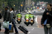 Emergency Services responding to terror attack. London double decker bus destroyed by suspected suicide bomber - Duncan Phillips - 07-07-2005